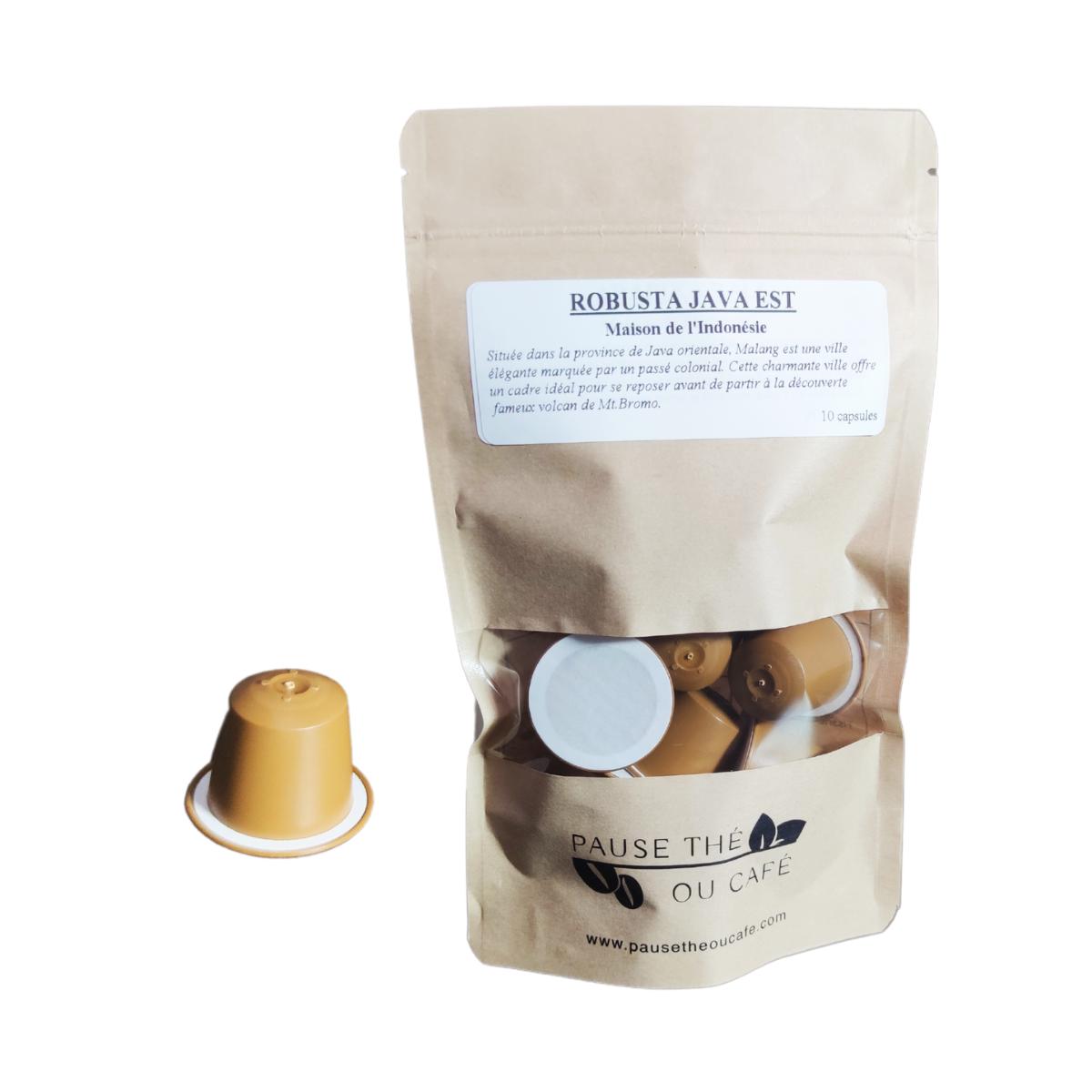 Café Microlot Robusta Java EST capsules compatibles Nespresso® x10