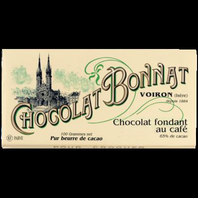 Chocolat Bonnat Fondant au café