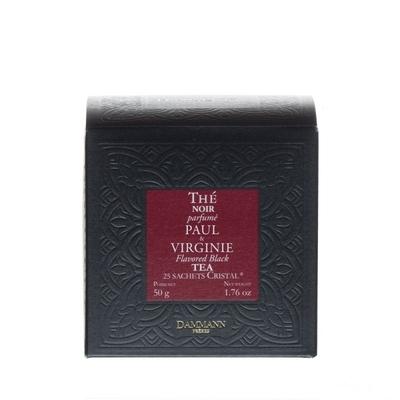 Thé Noir Paul & Virginie, 25 sachets cristal
