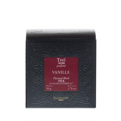 Thé Noir Vanille, 25 Sachets cristal