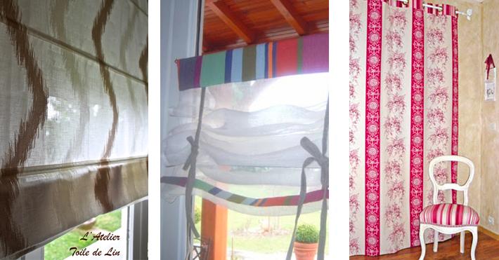 confection de rideaux sur mesures l 39 atelier toile de lin. Black Bedroom Furniture Sets. Home Design Ideas