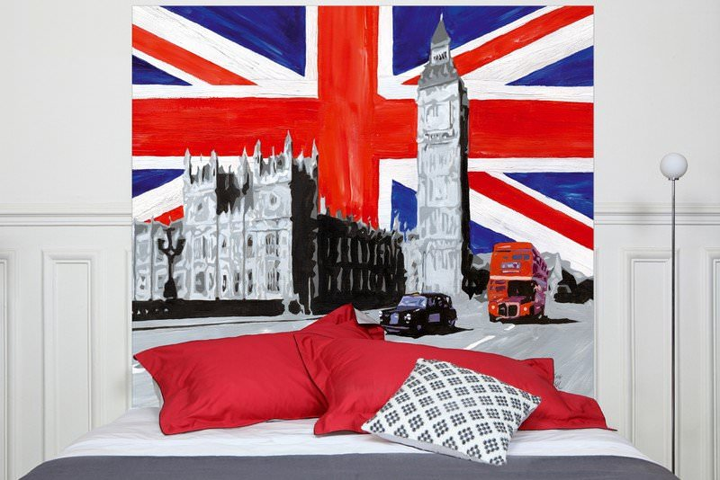 t te de lit london ameublement t te de lit panneau d coratif l 39 atelier toile de lin. Black Bedroom Furniture Sets. Home Design Ideas