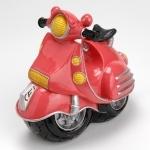 Tirelire scooter rose