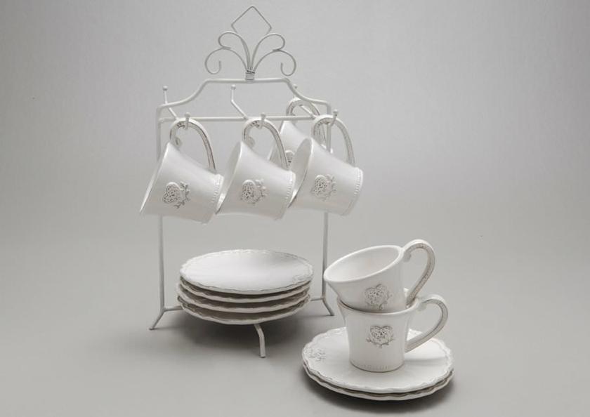 Service caf coeur c t d co arts de la table l for Service de table art deco