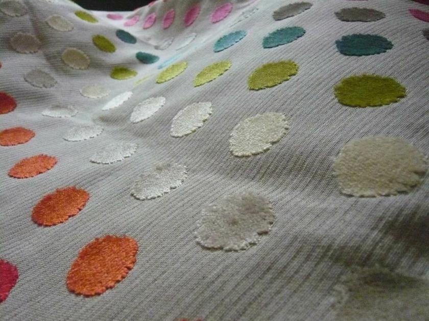 victoria multicolore tissus au m tre les velours l 39 atelier toile de lin. Black Bedroom Furniture Sets. Home Design Ideas