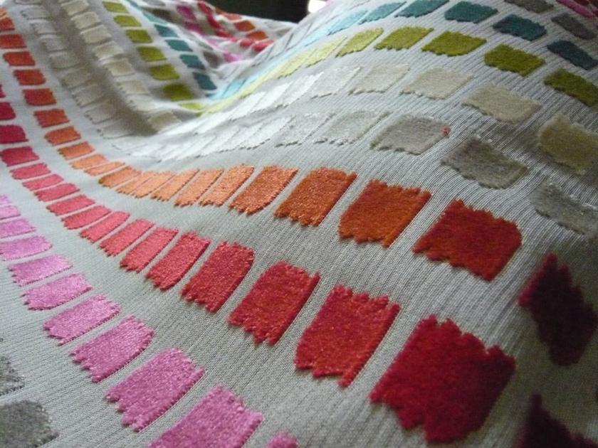 salvador multicolore tissus au m tre les velours l 39 atelier toile de lin. Black Bedroom Furniture Sets. Home Design Ideas