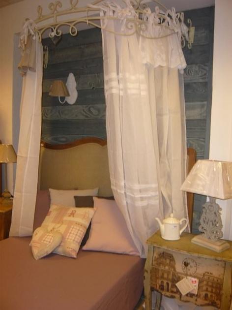 ciel de lit double elise ameublement ciel de lit l 39 atelier toile de lin. Black Bedroom Furniture Sets. Home Design Ideas
