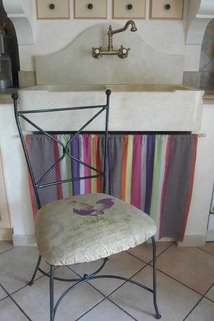 Mes r alisations l 39 atelier toile de lin - Rideau sous evier cuisine ...