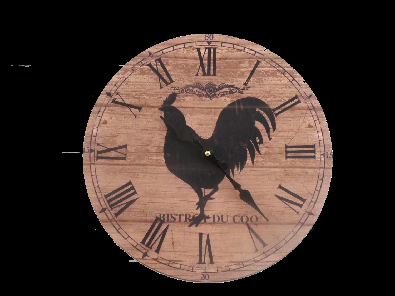 Horloge murale coq