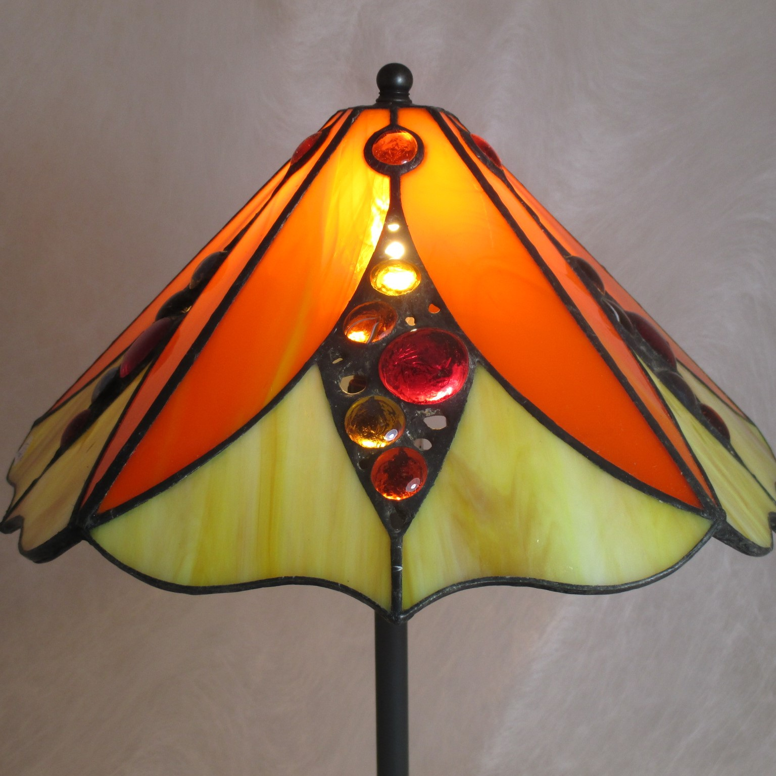 Lampe sur pied 5 pans Jaune, orange