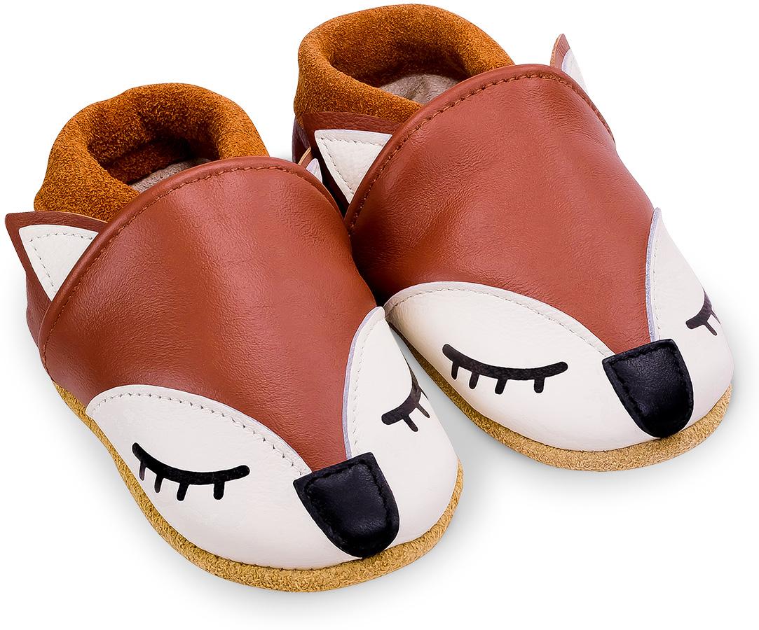 Chaussons bébé en cuir souple Gaspard le Renard