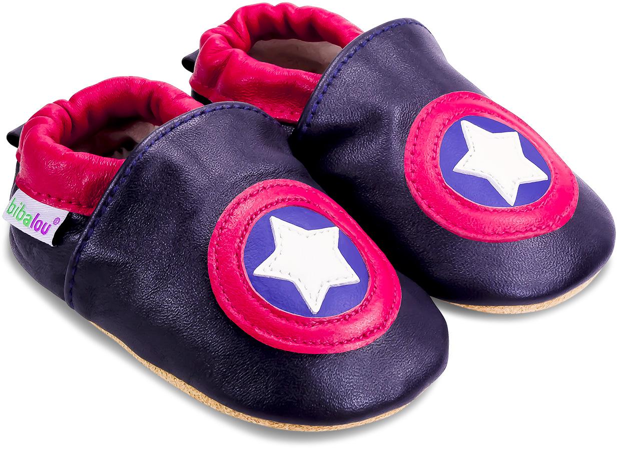 Chaussons enfant cuir souple Capitaine USA
