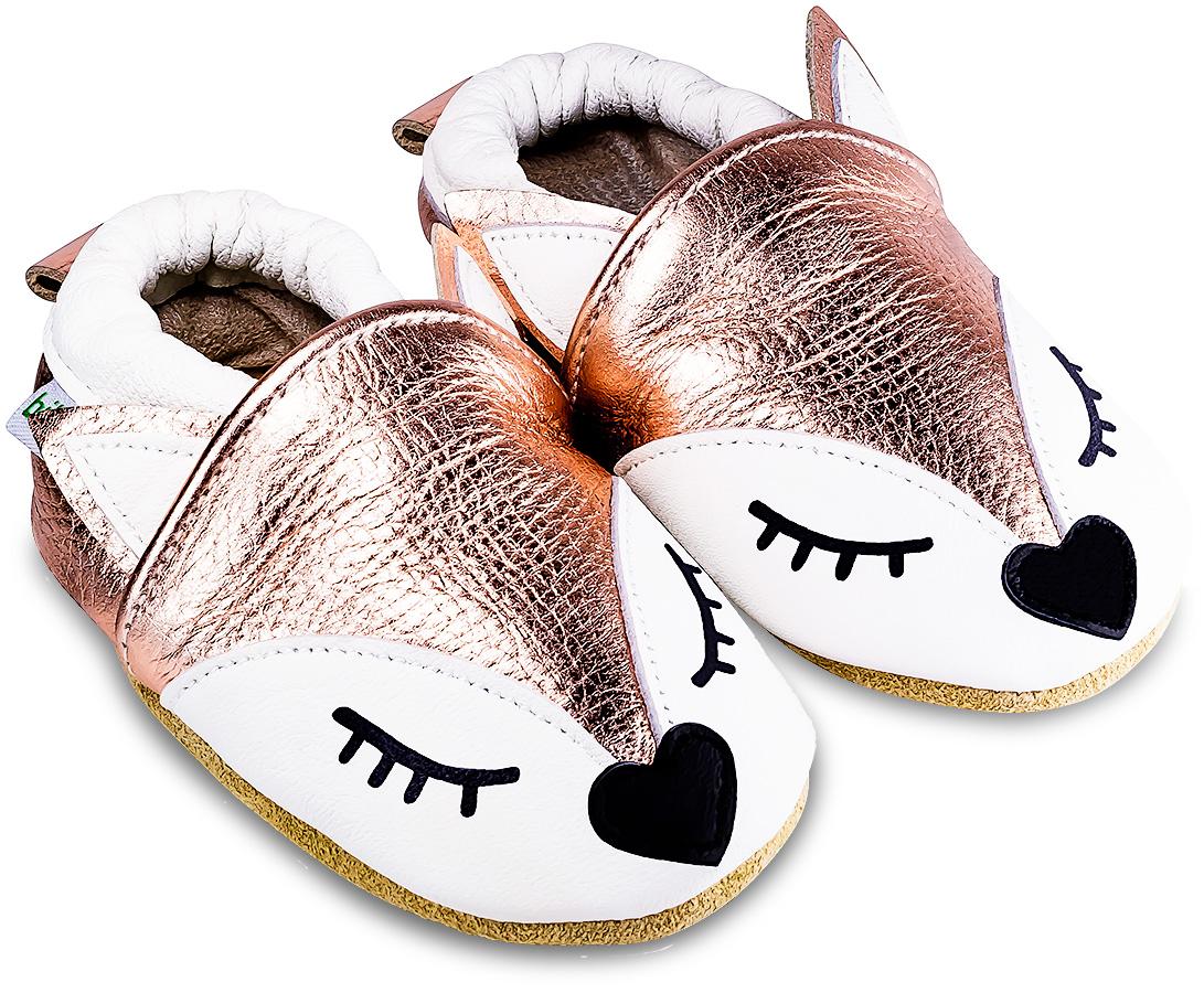 Chaussons bébé en cuir souple Ariana la Renarde