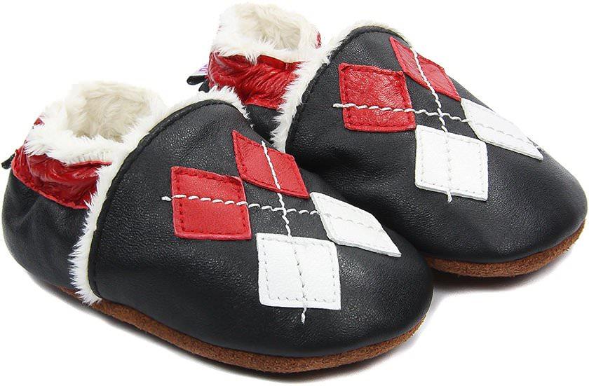 chaussons-bebe-m840-losanges-fourres-face