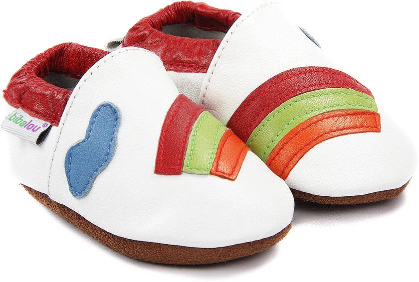 chaussons-bebe-m840-arc-en-ciel-blanc-face