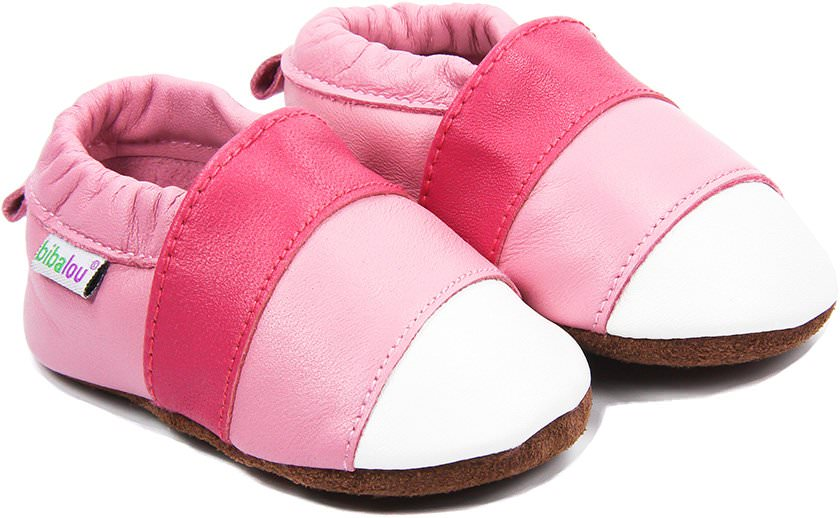 regard détaillé c1cea f3c6a Chaussons bébé en cuir souple Pink Lady - Chaussons en cuir ...