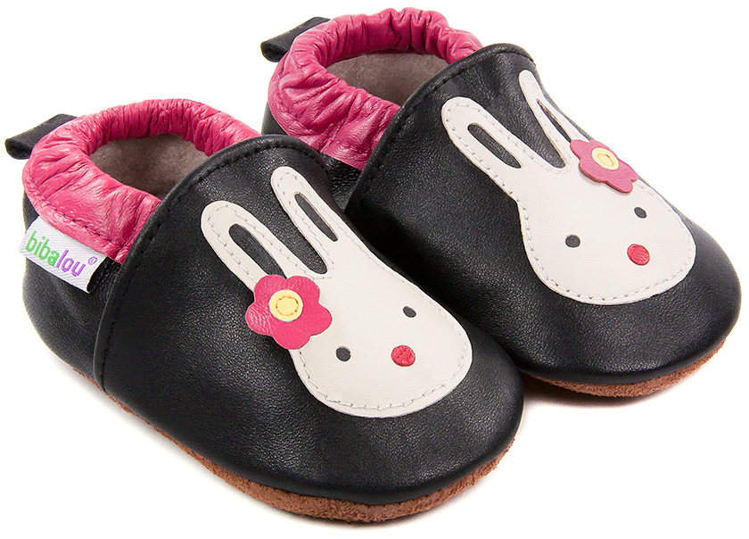 chaussures bebe cuir souple chaussons noir etoile argentee carozoo en cuir souple en stock. Black Bedroom Furniture Sets. Home Design Ideas