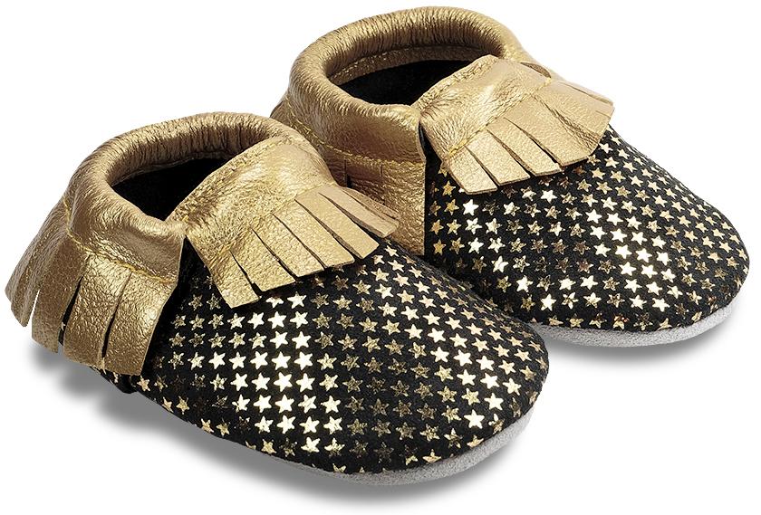 chaussons-enfant-moccs-etoile-or-840-face