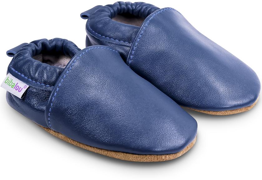 chaussons b b en cuir souple unis bleu de minuit nos chaussons l gers mod les gar ons bibalou. Black Bedroom Furniture Sets. Home Design Ideas