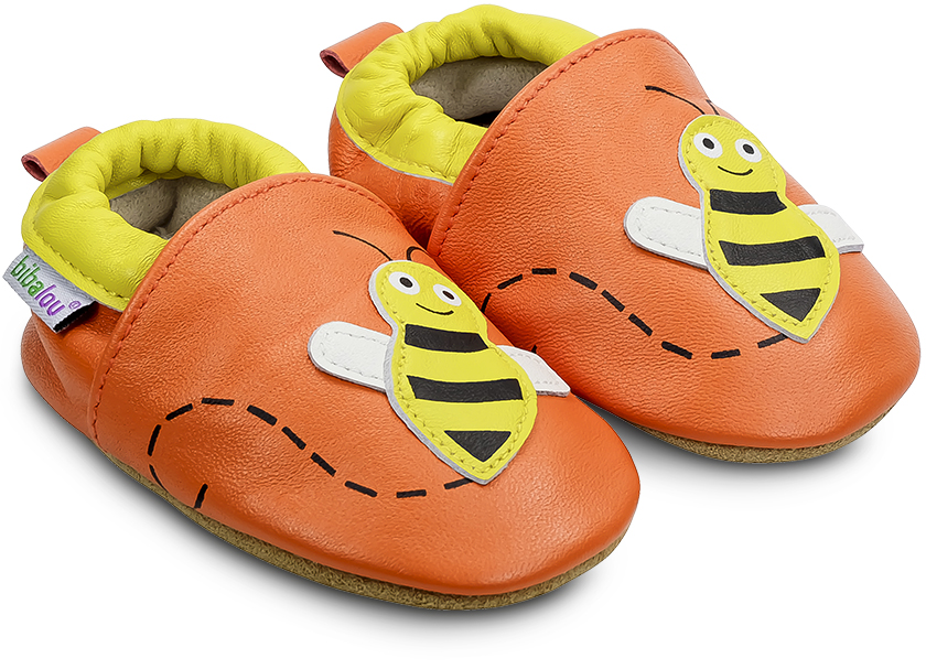 chaussons-abeille-orange-840
