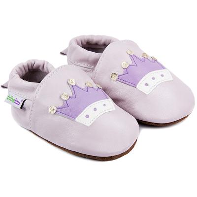 Chaussons bébé en cuir souple Princesse