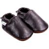 Chaussons bébé en cuir souple Unis - Brun Cachou