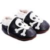Chaussons bébé fourrés en cuir Rock'n Roll Squelette