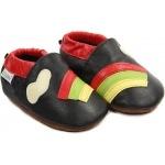 chaussons-bebe-m840-arc-en-ciel-noir-face