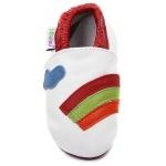 chaussons-bebe-m630-arc-en-ciel-blanc-dessus