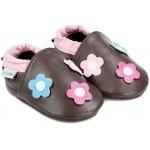 chaussons-bebe-m840-lancer-de-fleurs-marron-face