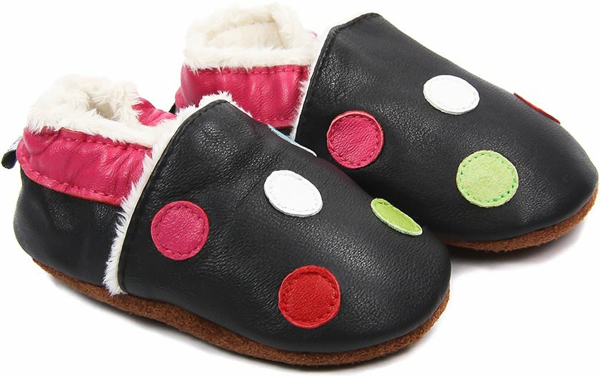 chaussons-bebe-m840-petits-pois-fourres-face