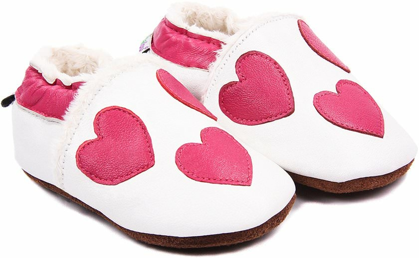chaussons b b fourr s en cuir tout en coeur nos chaussons fourr s mod les filles bibalou. Black Bedroom Furniture Sets. Home Design Ideas