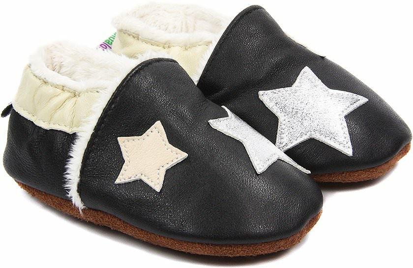 chaussons b b fourr s en cuir la t te dans les toiles bibalou. Black Bedroom Furniture Sets. Home Design Ideas