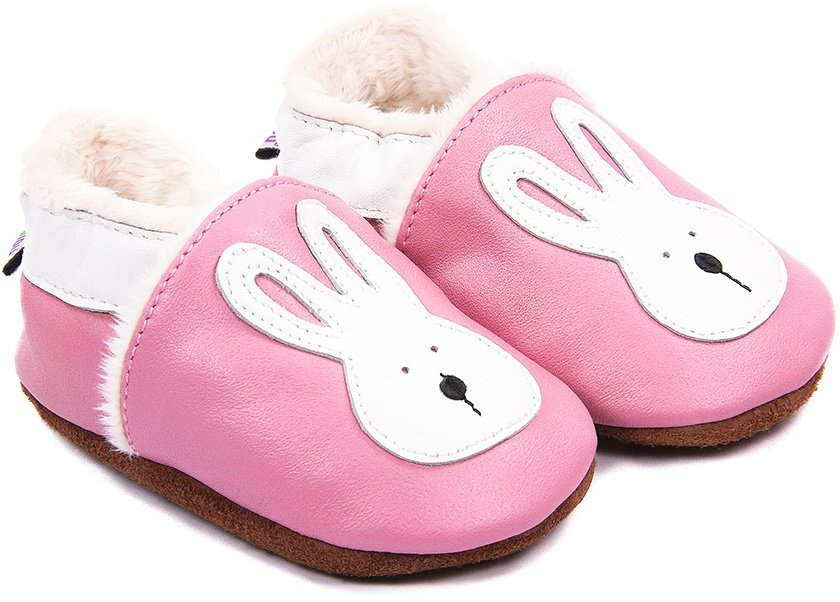chaussons-bebe-m840-jeannot-le-lapin-rose-fourres-face