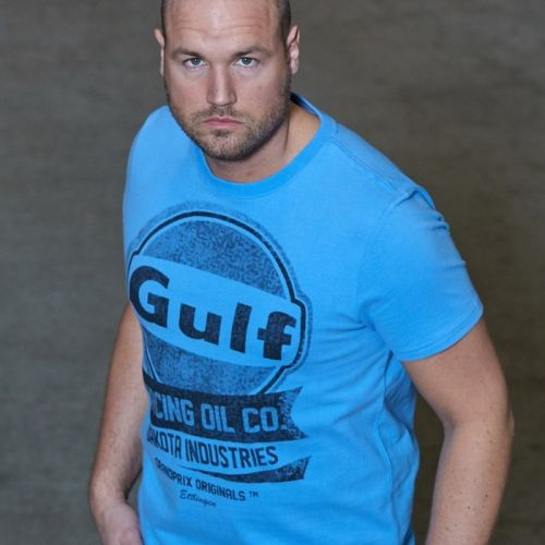 T-shirt Gulf Oil Racing Bleu