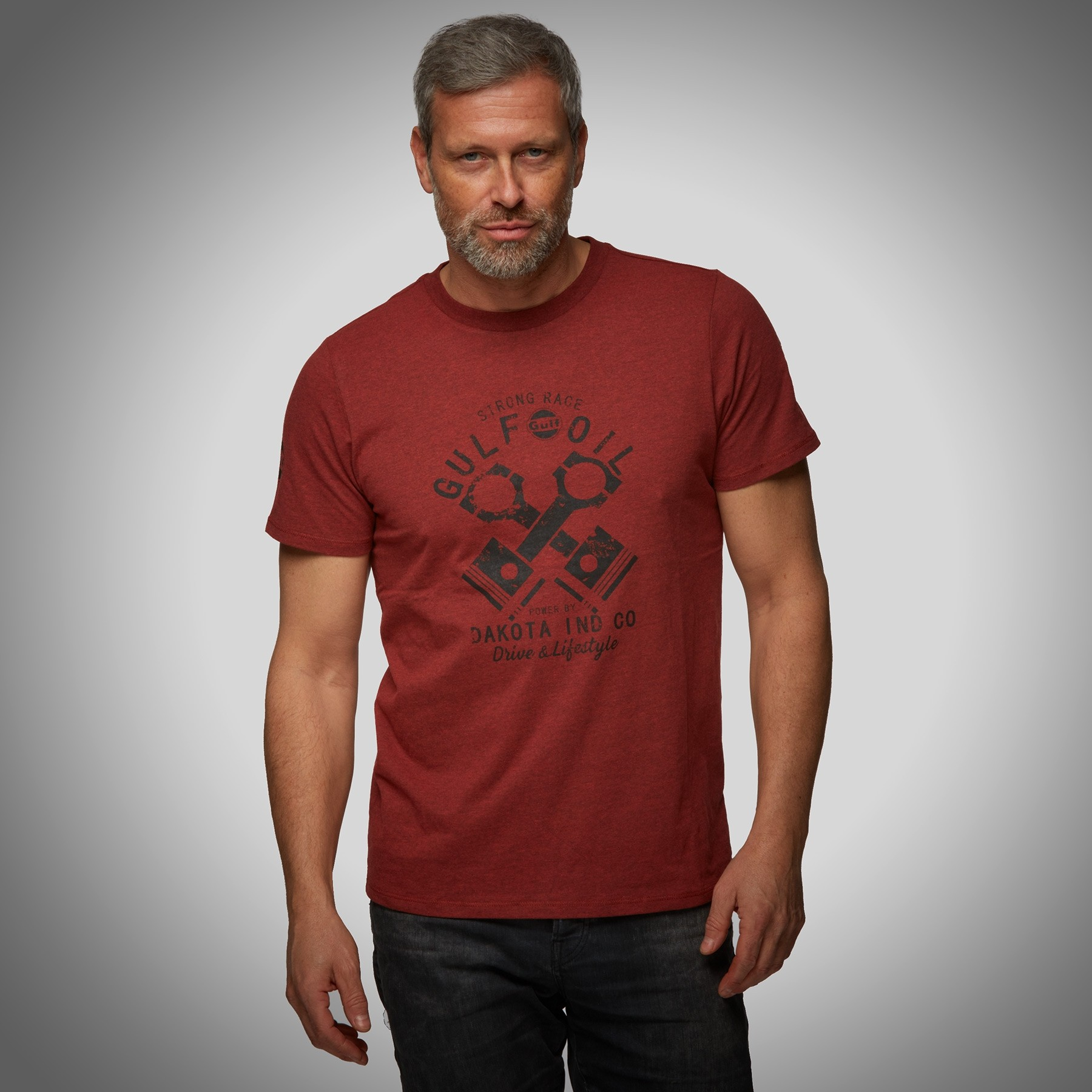 T-shirt Guld Red Piston