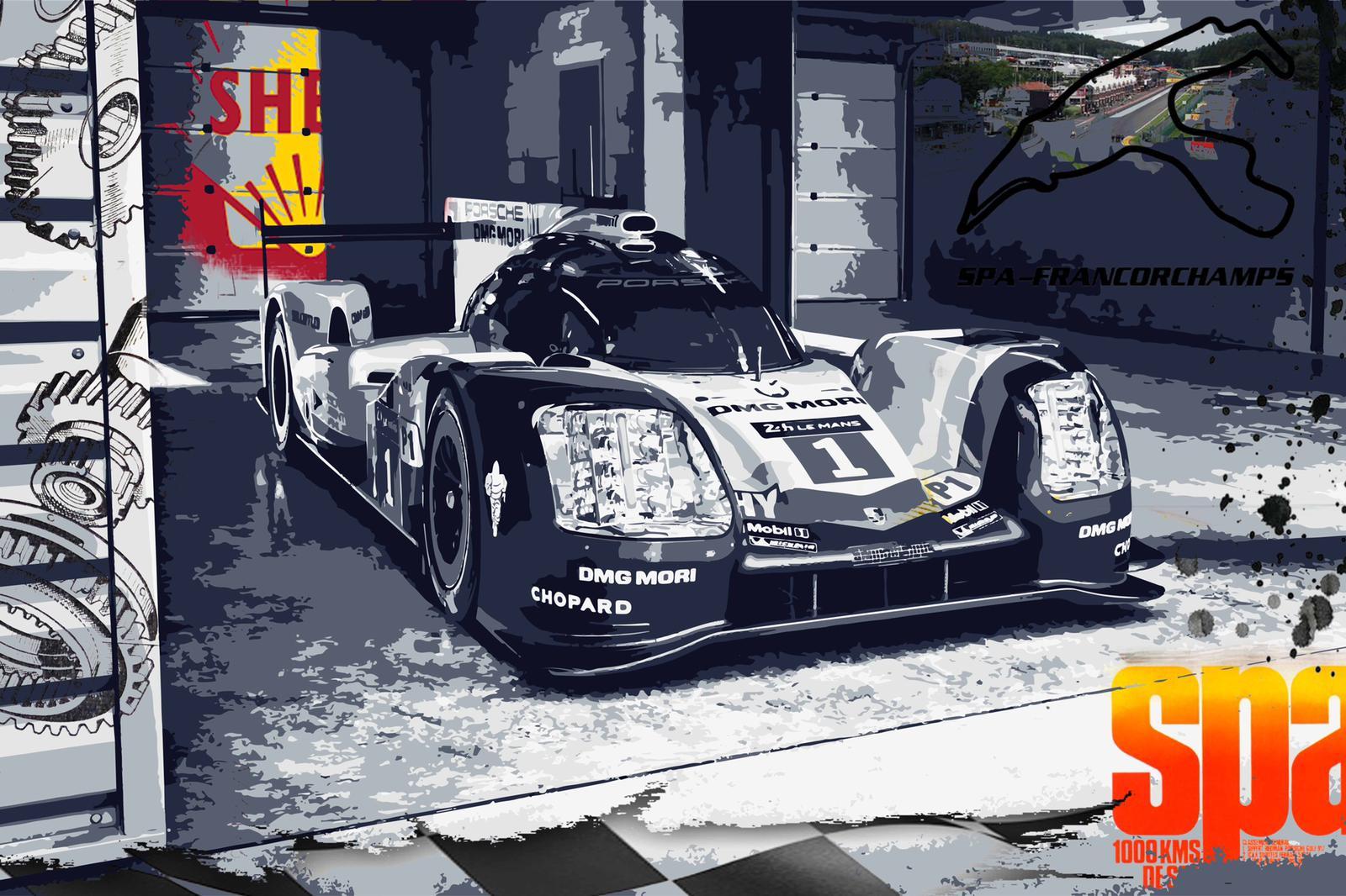 Tableau Porsche Spa 1000Km
