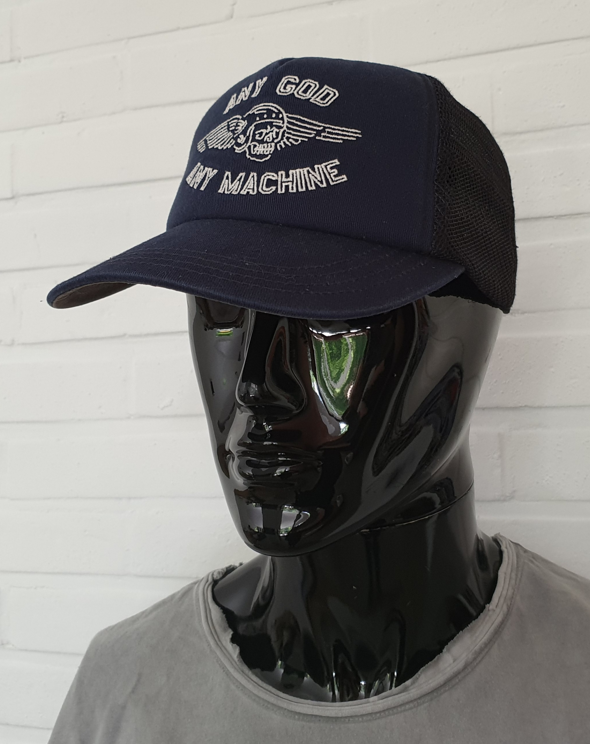 Casquette Deus Ex Machina - Brigade Trucker Navy Any God, Any Machine