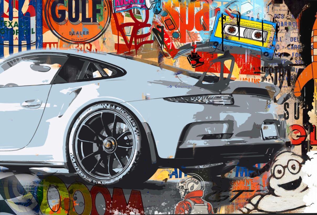 Tableau Porsche Taycan Blue