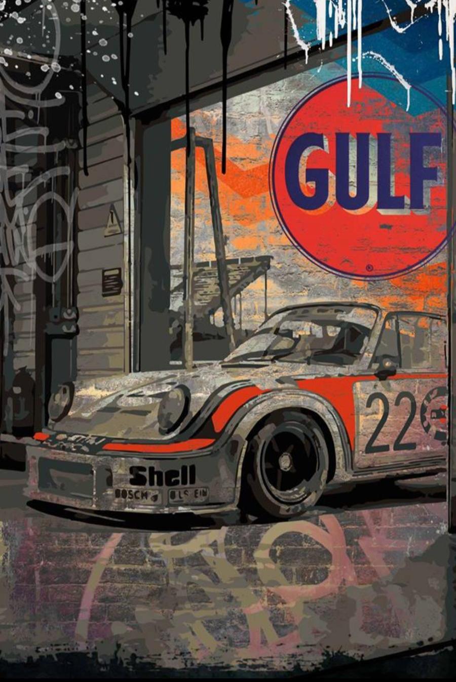 Tableau Porsche Garage