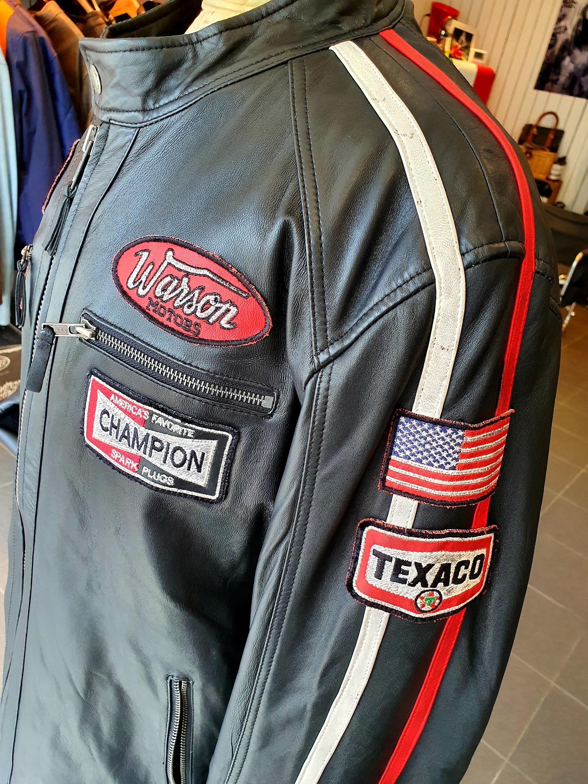Veste Warson Motors - Daytona en cuir