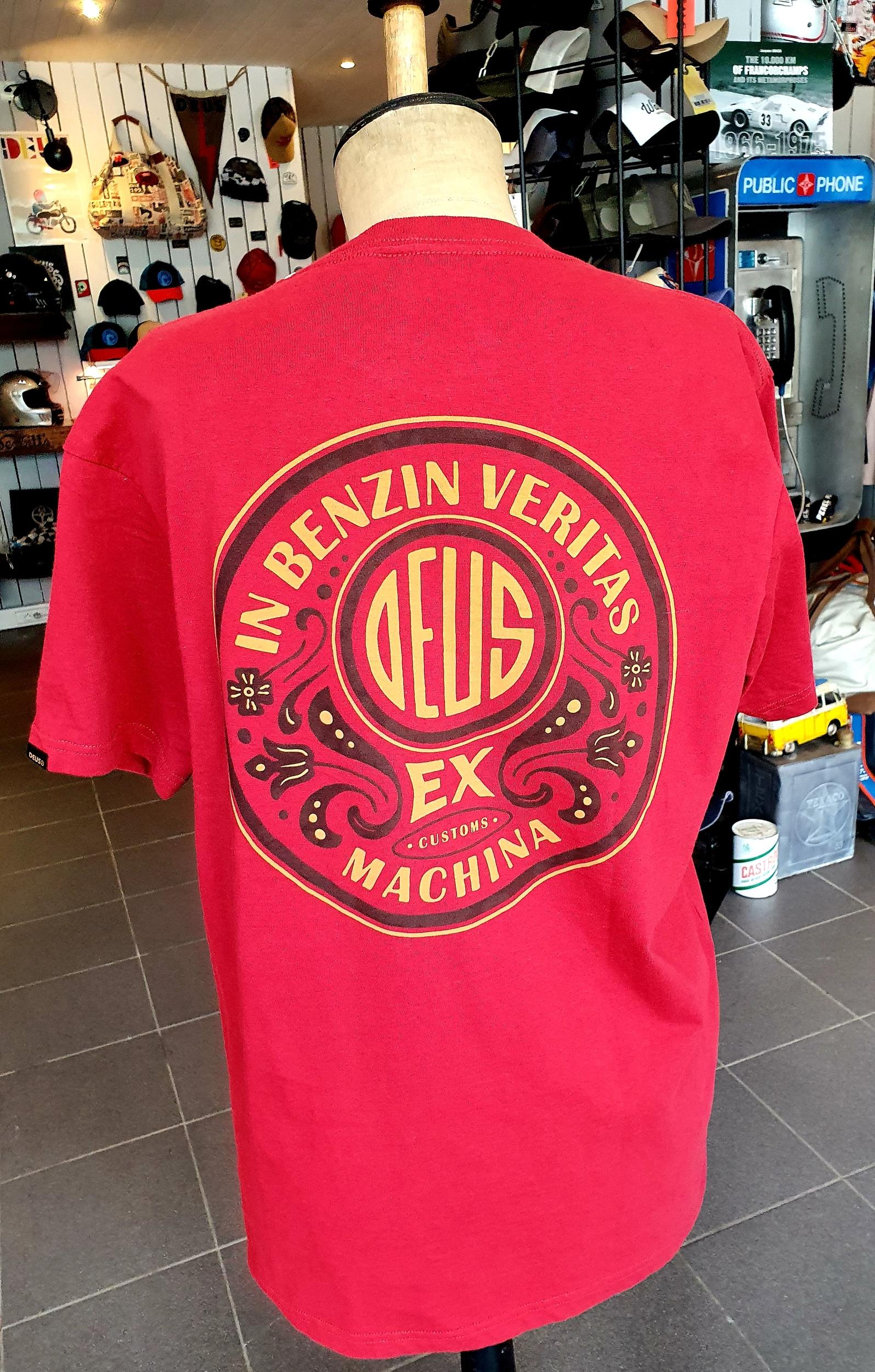 T-Shirt Deus Ex Machina In Benzine Veritas