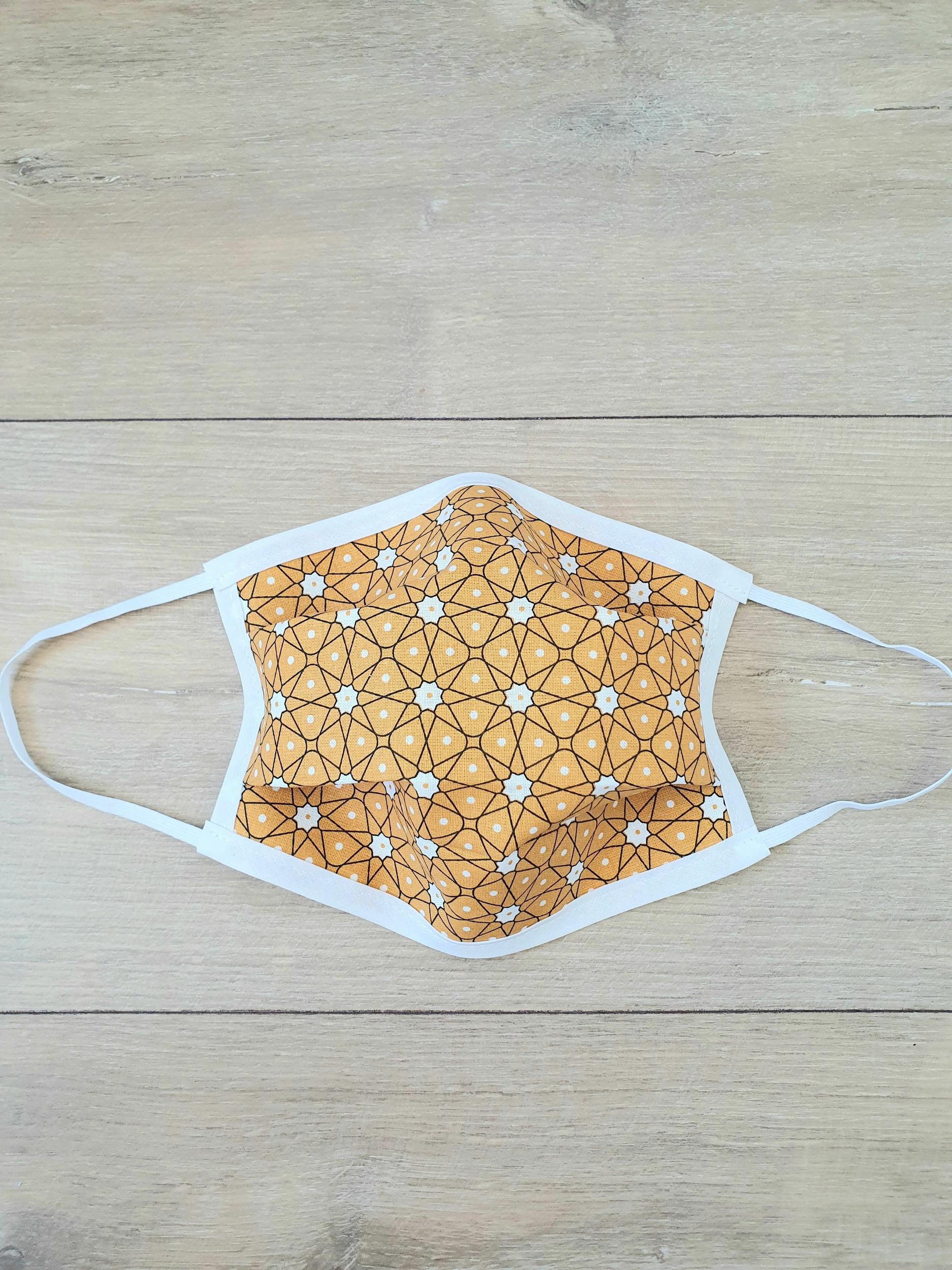 Masque à élastiques Origami jaune