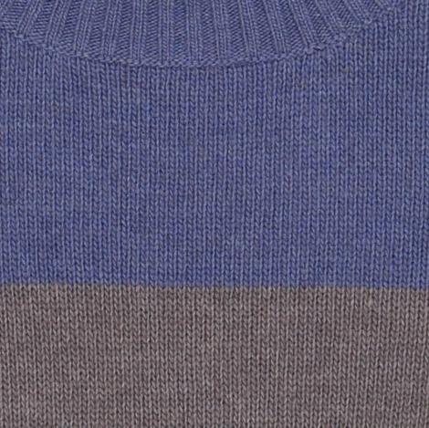 pull bicolore ardoise bleu nuit détail