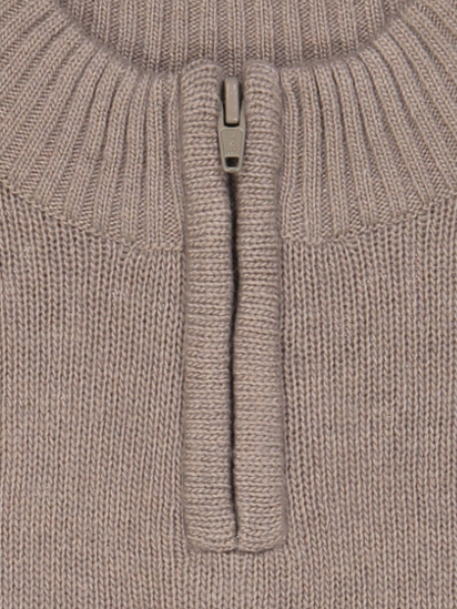 pull col montant zippe taupe détail