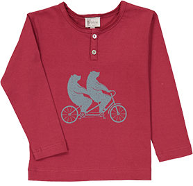 T-Shirt ours à vélo