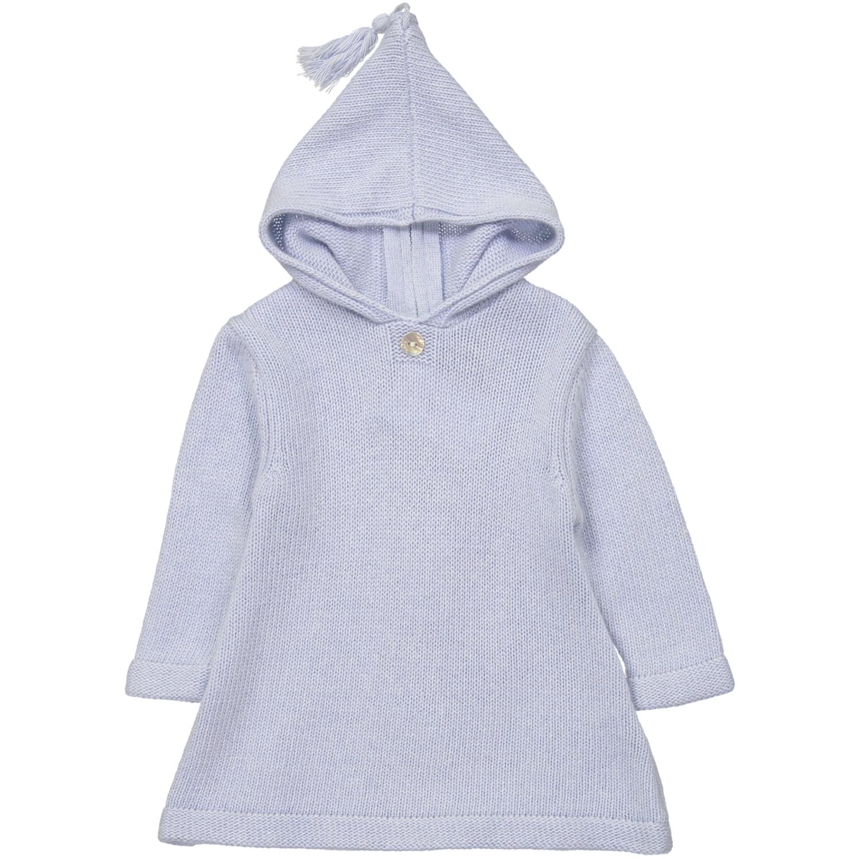 Burnous zippé à capuche bleu ciel