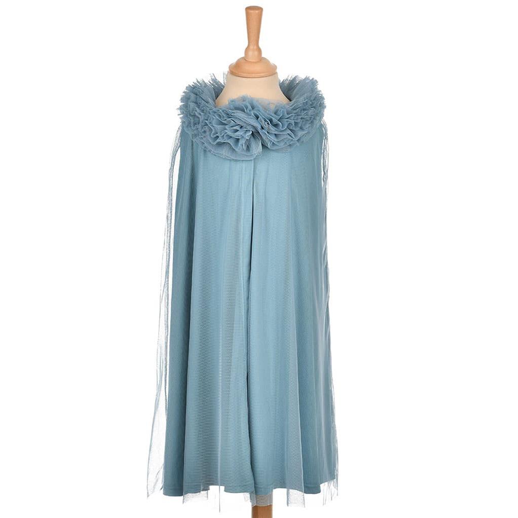 Cape de princesse en tulle - Bleu