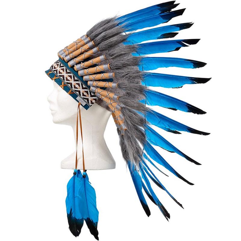 Coiffe indien bleu gris souza