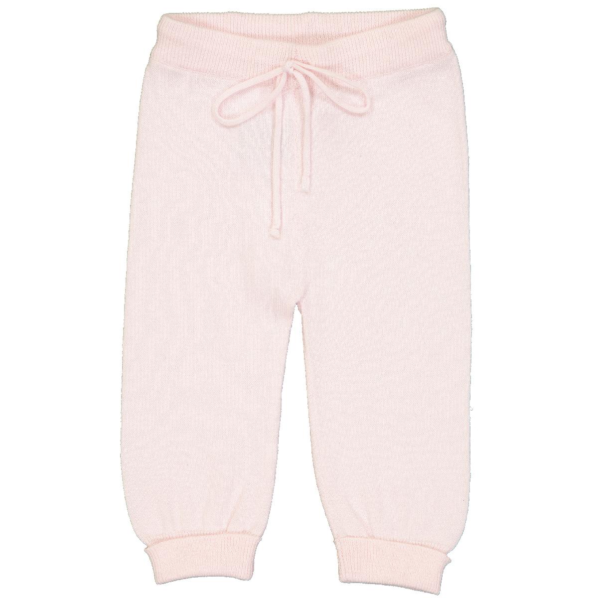 pantalon-bébé-laine-rose-layette